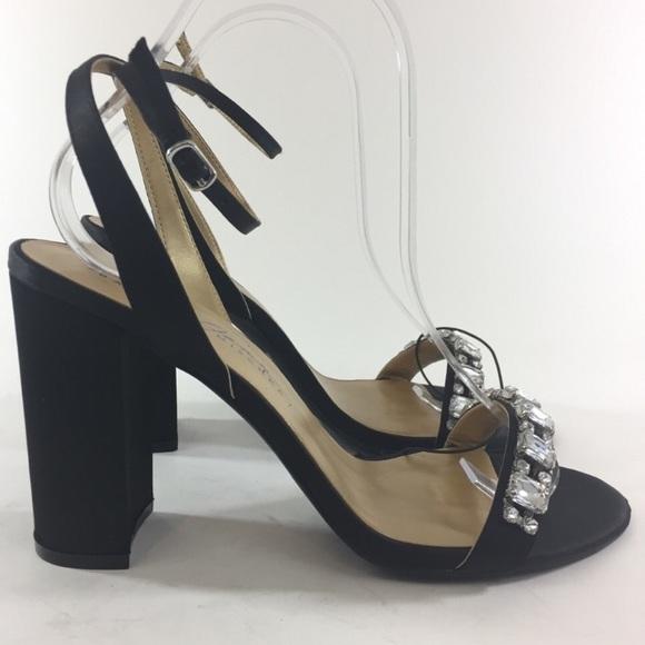 Badgley Mischka Shoes - NEW Badgley Mischka rhinestone black heels